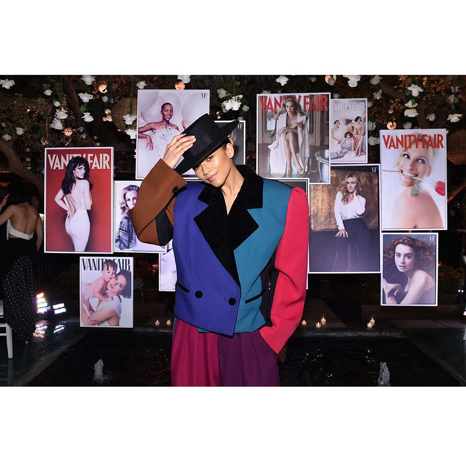 Zendaya wears Marc Jacobs Fall 2018 at the Vanity Fair & Lancome Paris Toast
