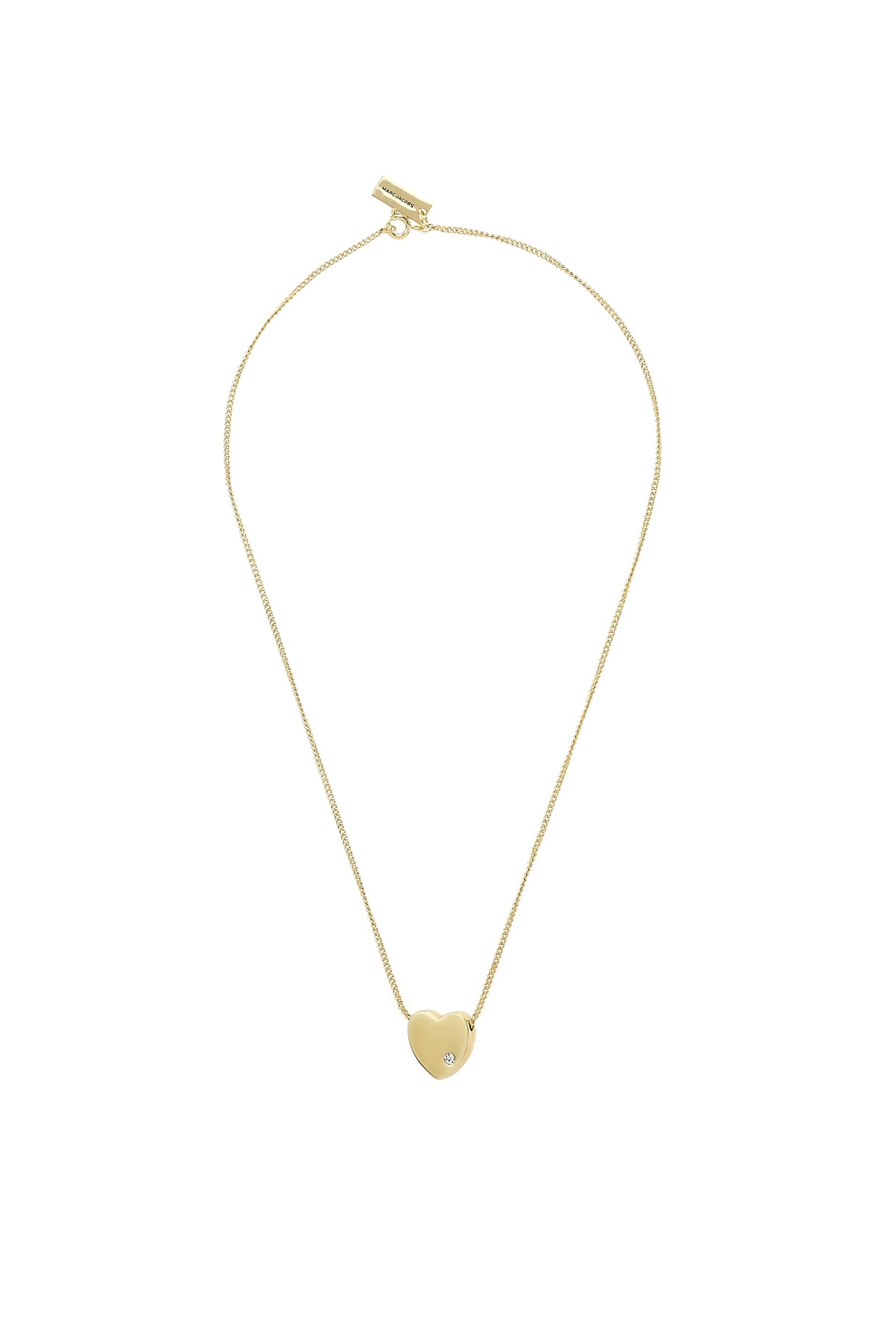 a gold necklace white pendant fope slider diamond