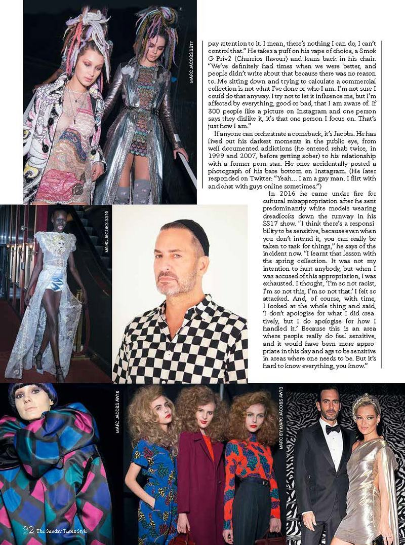 6a71f5af303 The Sunday Times  Marc Jacobs Talks Artistic Integrity