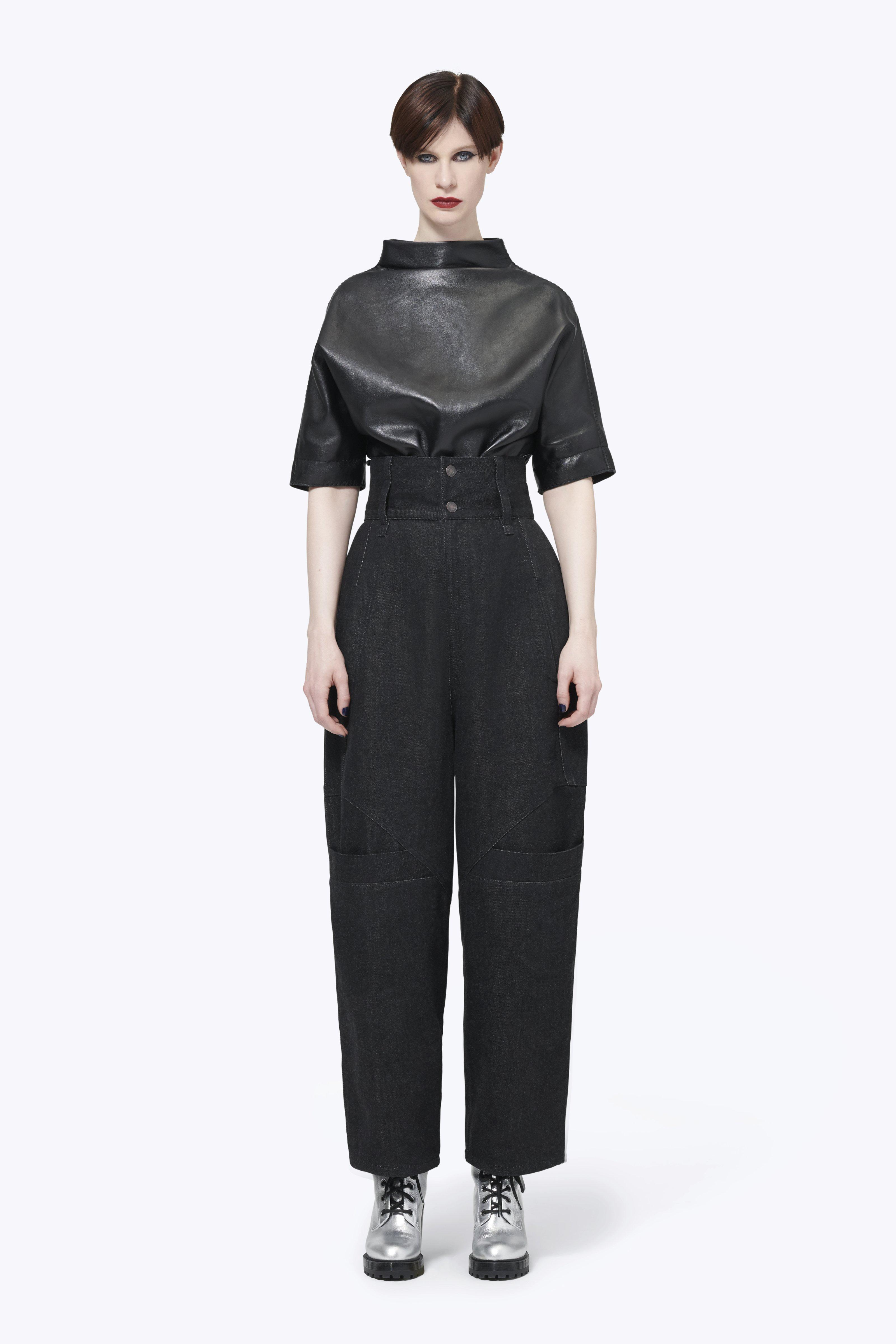 MARC JACOBS Button-Back Dolman Leather Top
