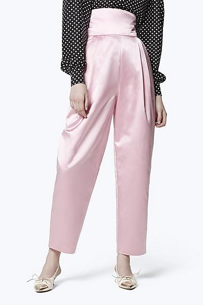 cdb4df414827 High-Waist Silk Satin Pants ...