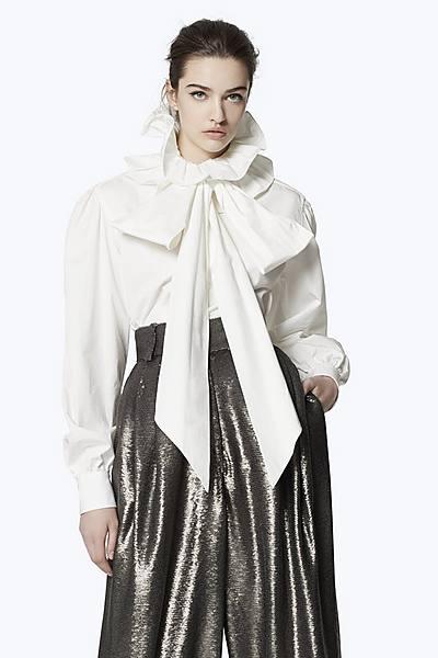 bccb4e46d30e High Collar Cotton Blouse ...