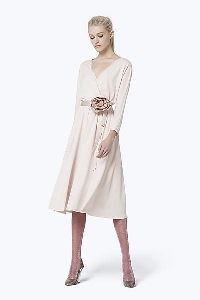 8da85008bf7 V-Neck Rosette Dress ...