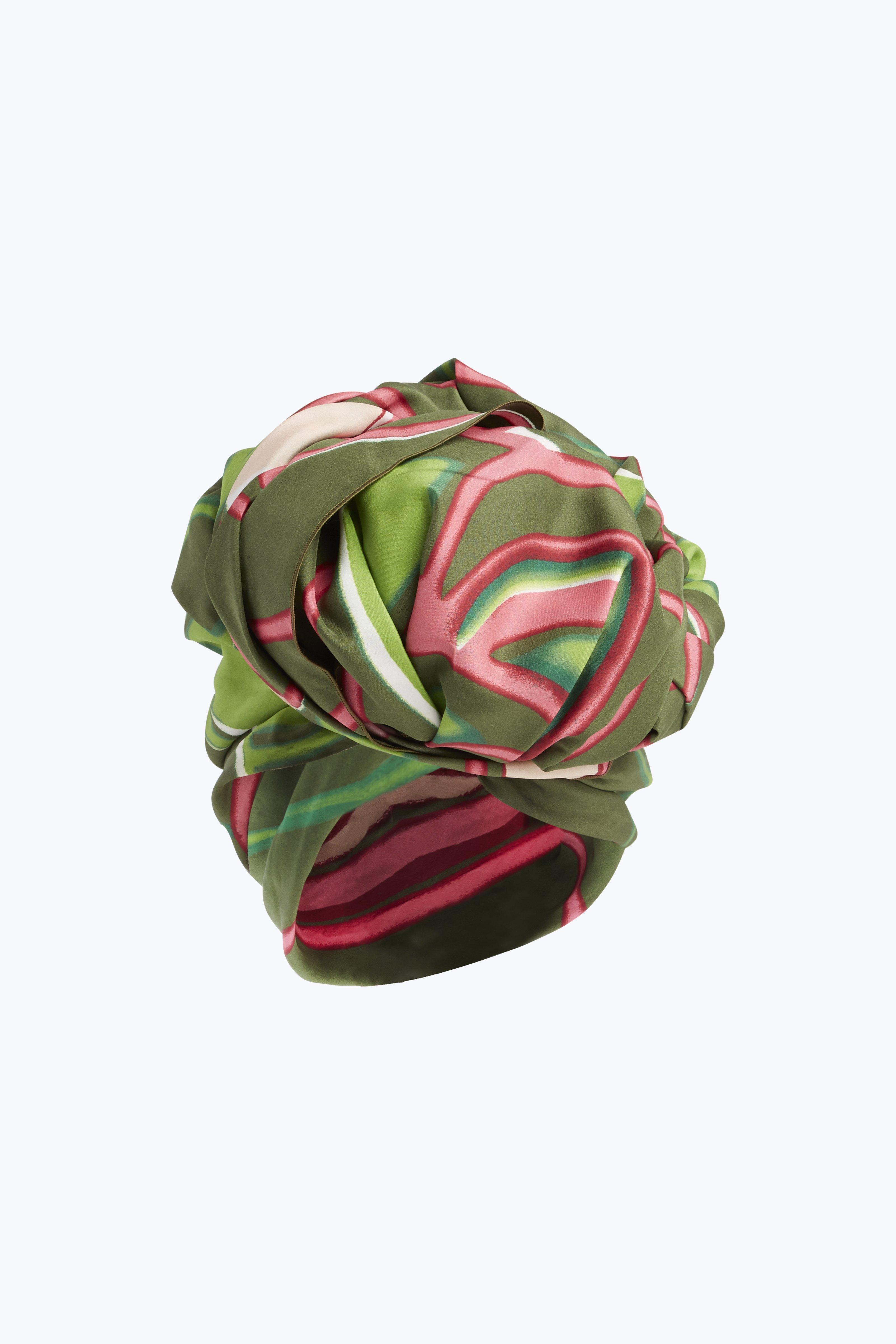 Graphic Flowers Turban