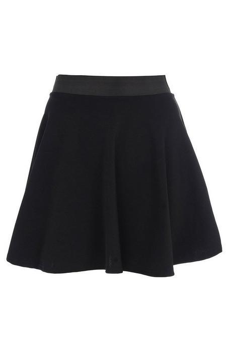 Falda Corta Negra con Cintura Elastica
