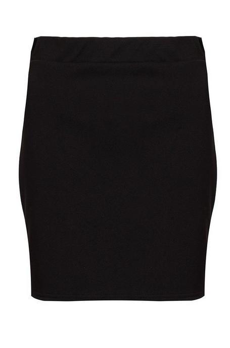 Minifalda Negra Ajustada con Cintura Elástica
