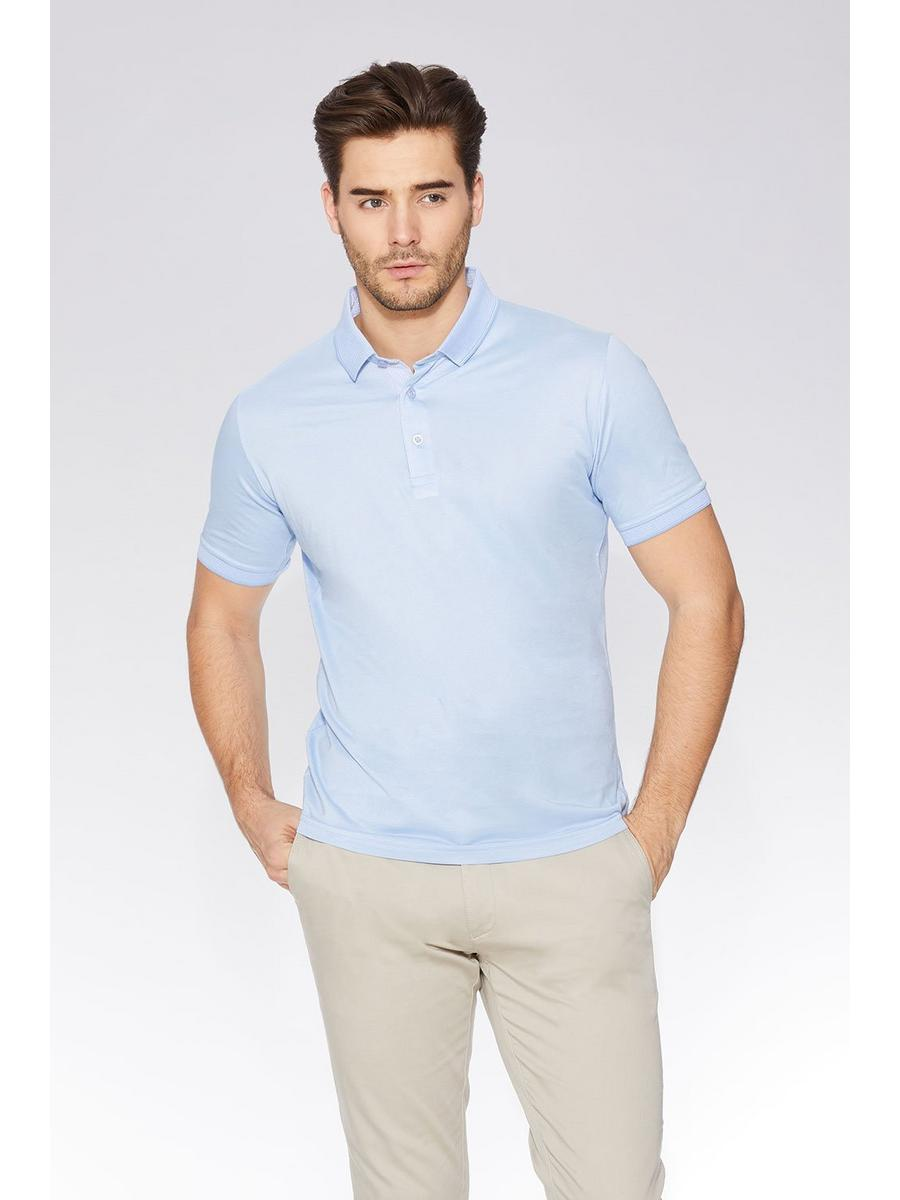 Light Blue Slim Fit Polo Shirt