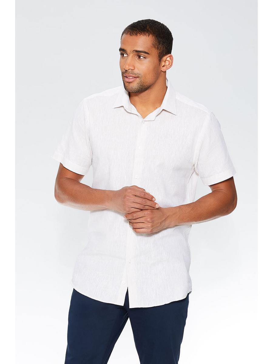Stone Linen Short Sleeve Shirt