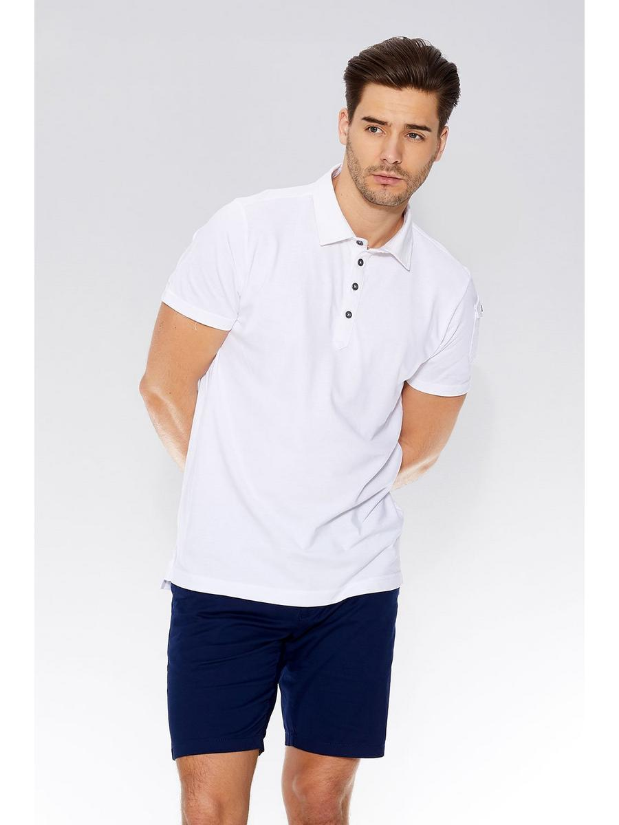 White Pocket Sleeve Polo Shirt