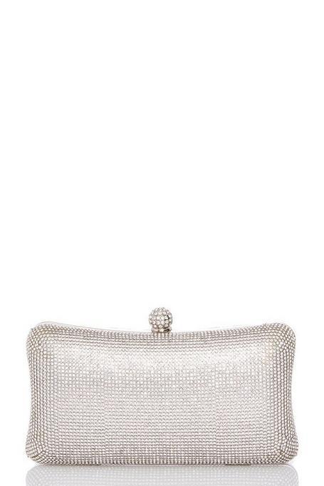 Silver Diamante Box Bag