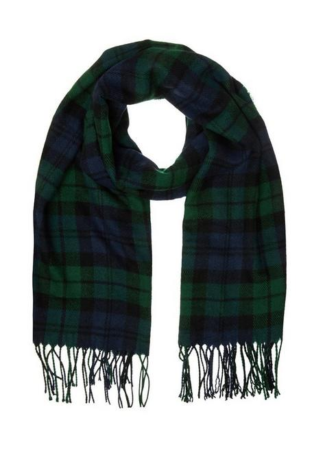 Green and Navy Tartan Scarf