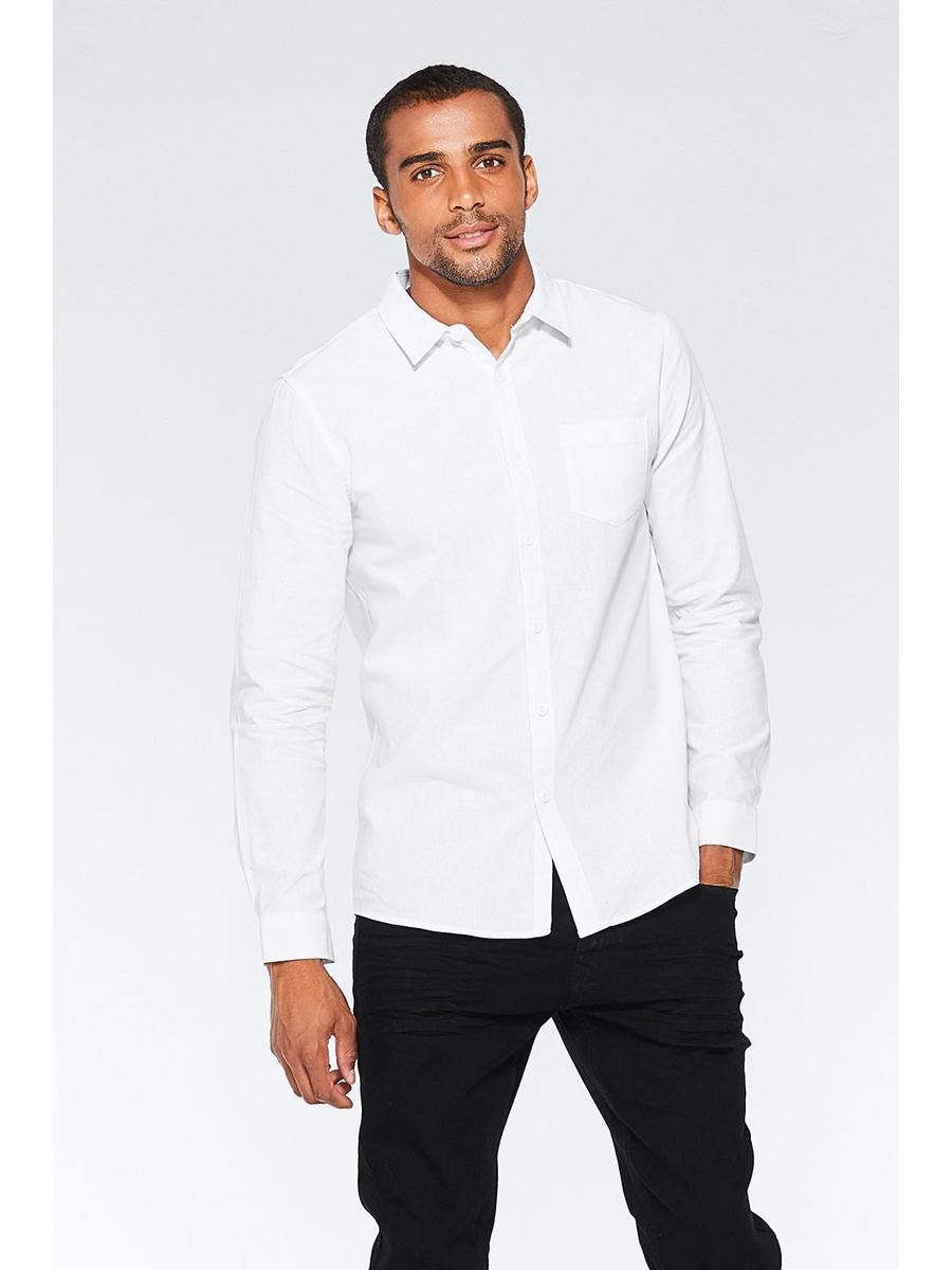 White Long Sleeve Plain Shirt
