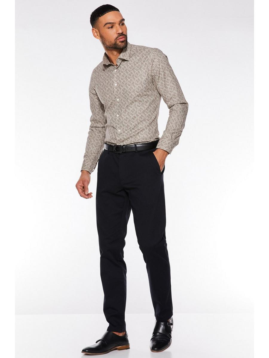 BLACK SLIM FIT STRETCH CHINOS