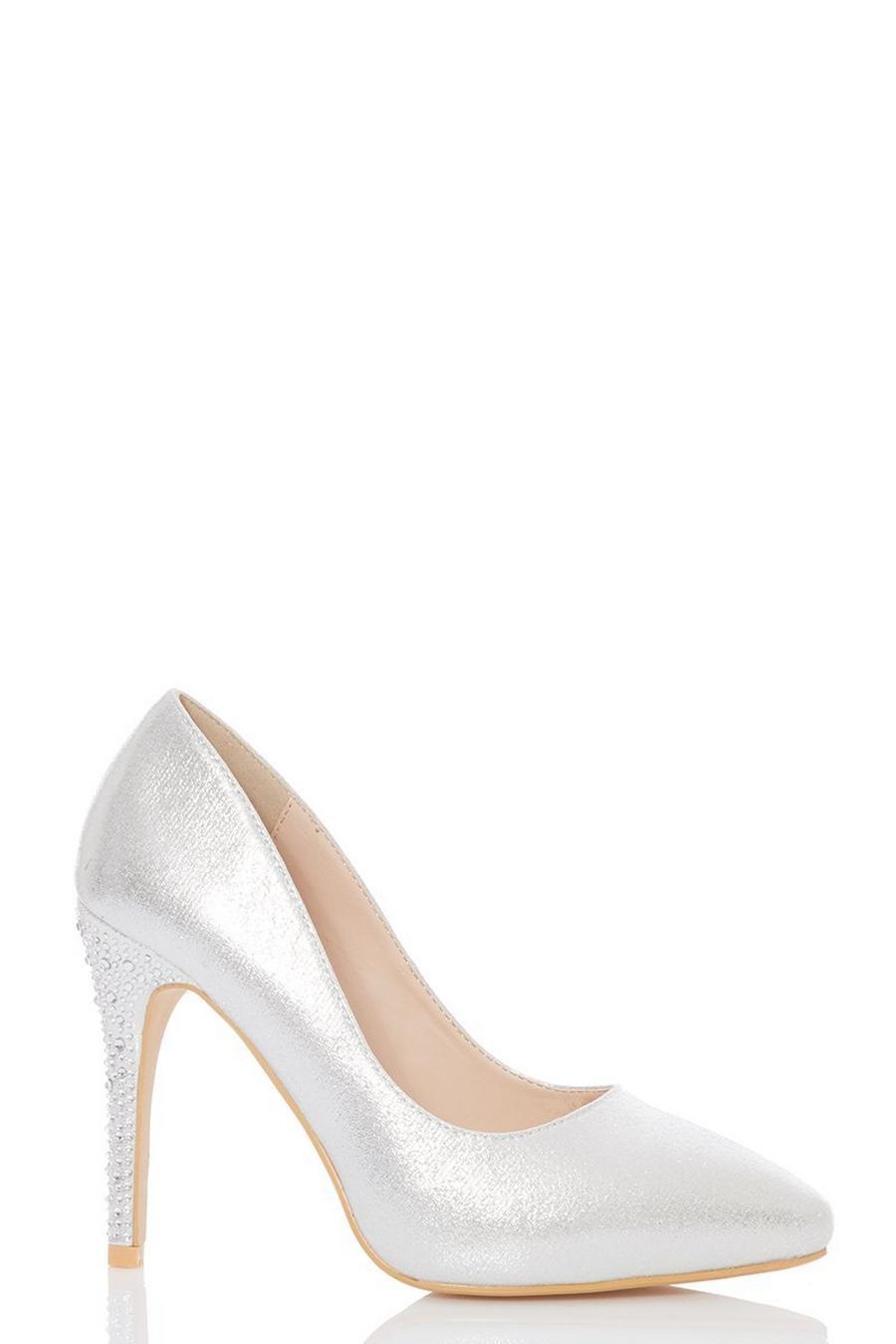 Zapatos Plata Brillantes Alto Con Y Tacón W9D2YHIbeE
