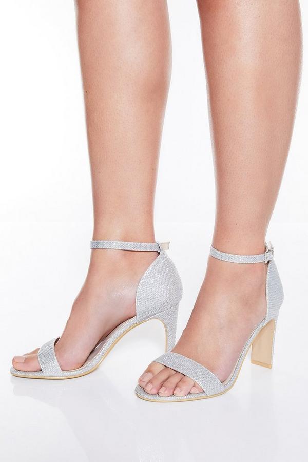 Silver Shimmer Heel Sandals