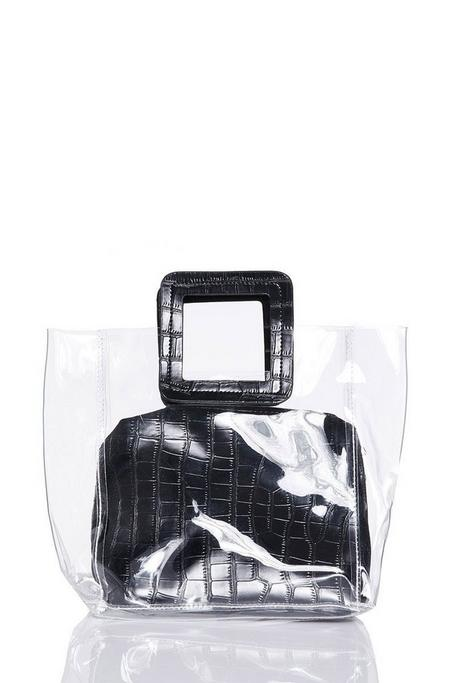 Black Clear Tote Bag