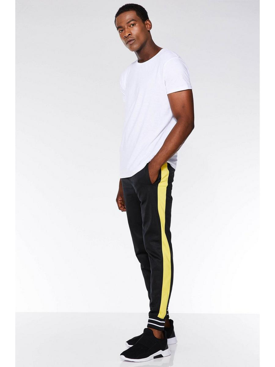 BLACK/YELLOW SIDE STRIPE JOGGER