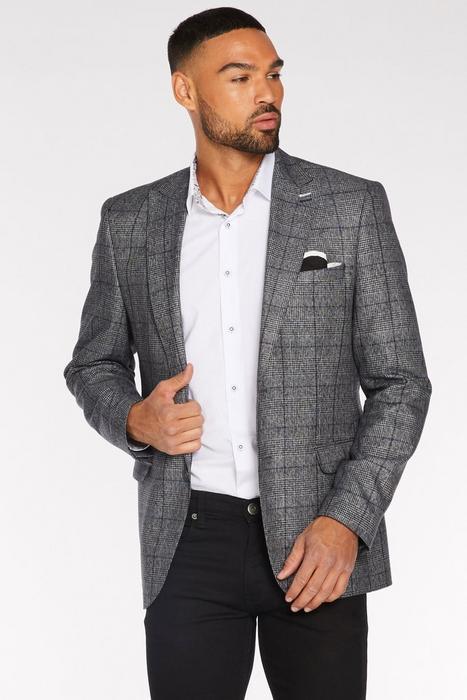 fe4e2d32a725 Grey & Blue Check Blazer. $146.98. Quick Look