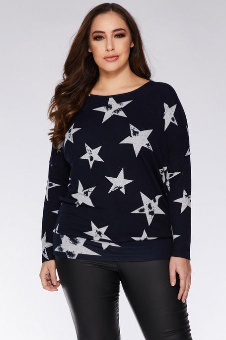 Jersey Curve Azul Marino con Estrellas