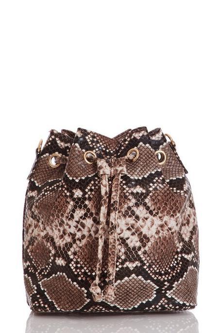 Snake Print Mini Cross Body Bag