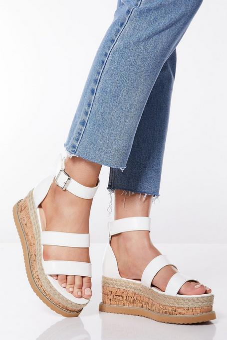 Sandalias con Plataforma Blancas