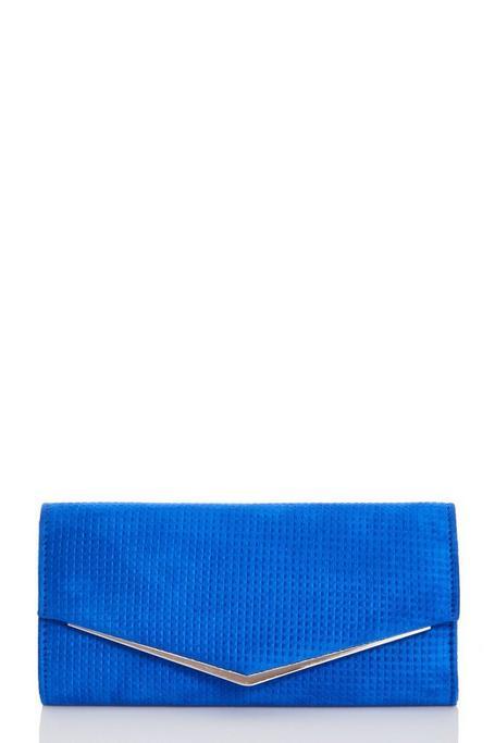 Bolso Azul Tipo Sobre con Textura