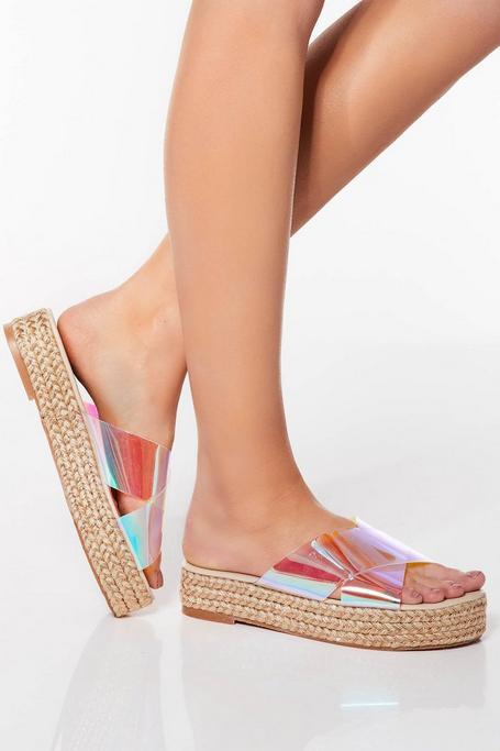 Sandalias de Plataforma Iridiscentes