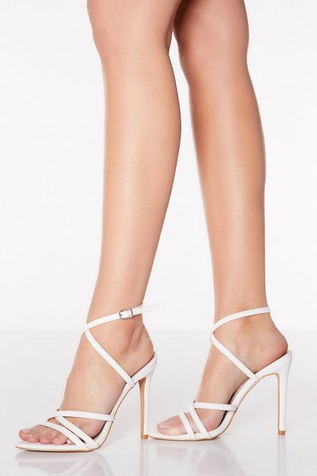 Sandalias de Tacón Fino Blancas