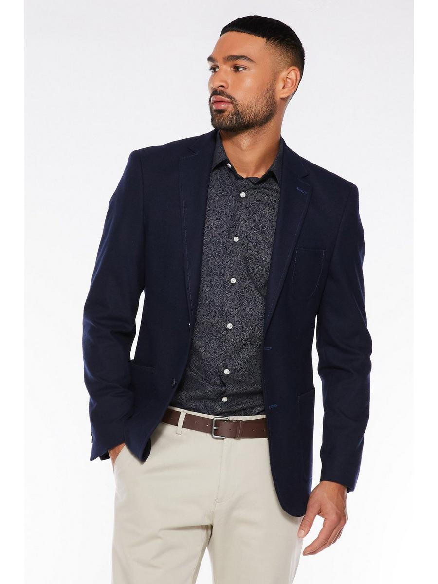 Navy Patch Pocket Soft Touch Blazer