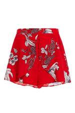 Shorts Rojos y Blancos Florales