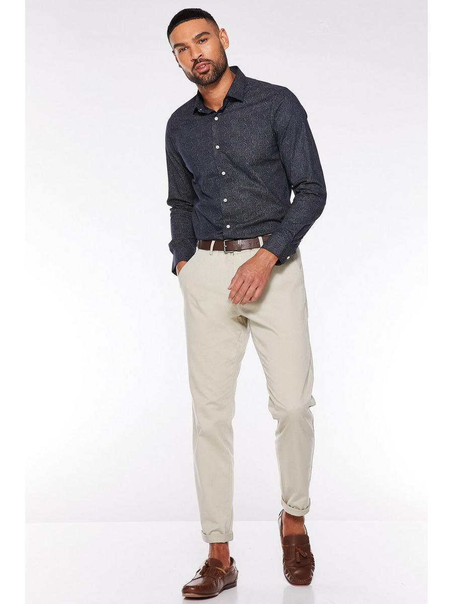 Stone Slim Fit Chino Trouser