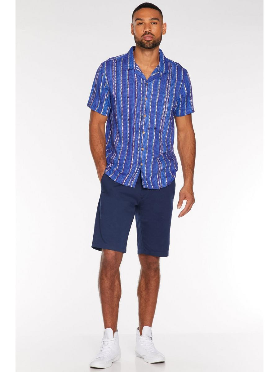 Petrol Blue Slim Fit Chino Short