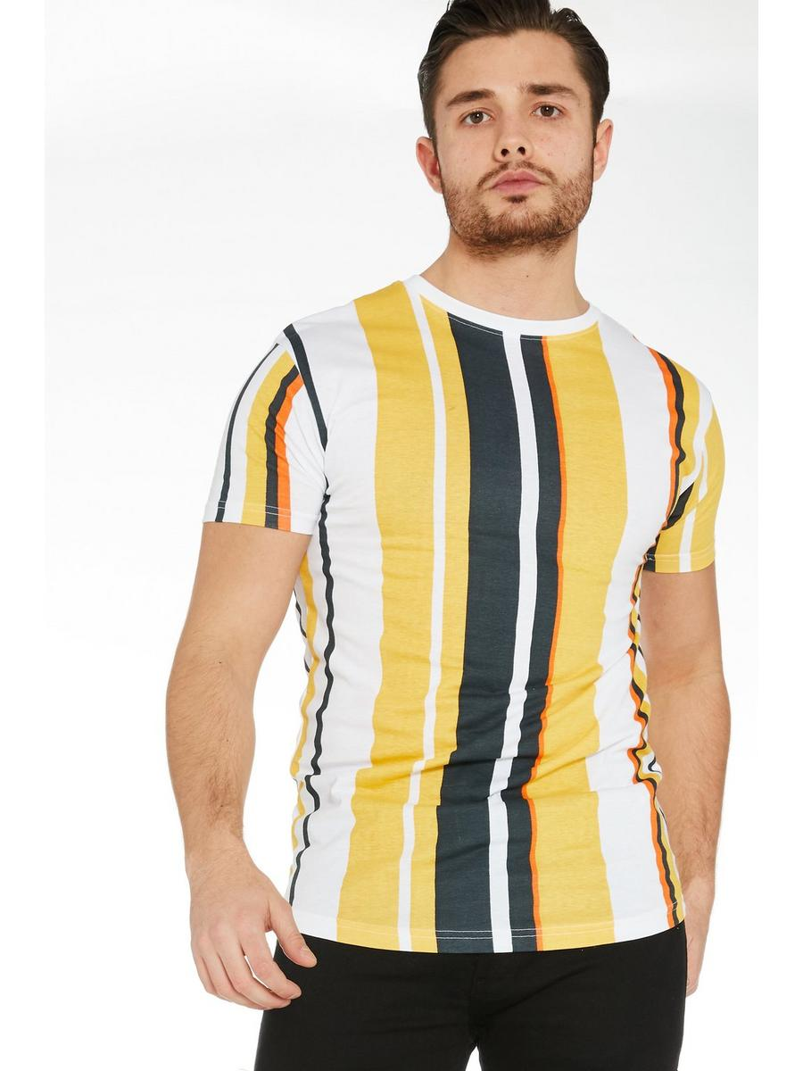 Yellow Vertical Striped T-Shirt