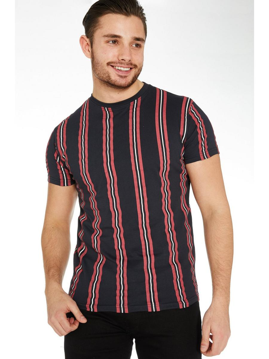 Navy Vertical Striped T-Shirt