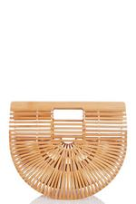Brown Wooden Basket Bag