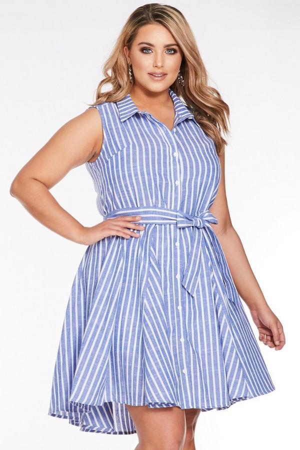 Vestido Curve a Rayas Azul y Blanco