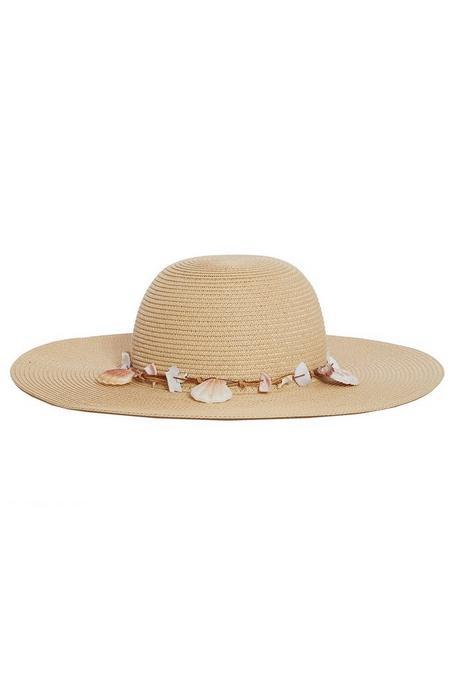 Sombrero Beis con Conchas