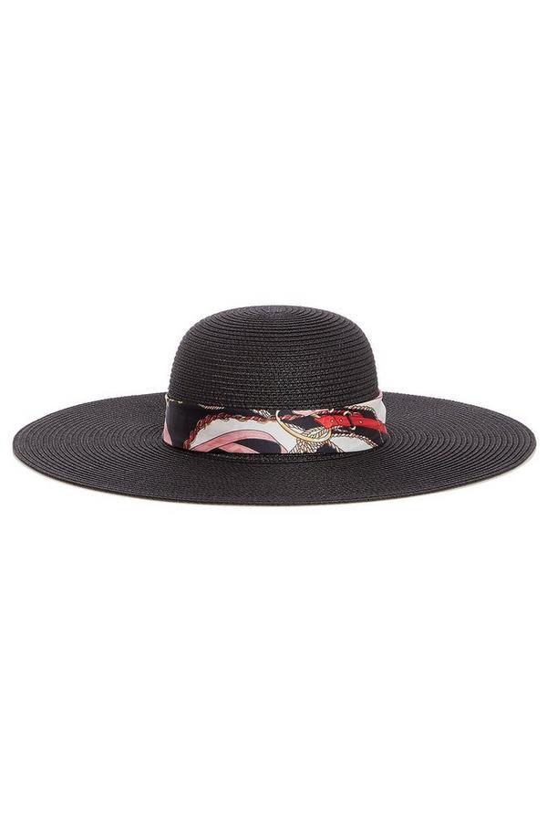 Sombrero Negro con Pañoleta