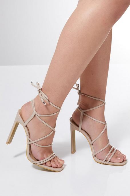 Sandalias de Tacón Atadas Nude