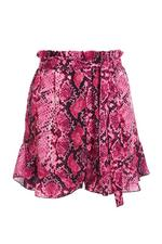 Shorts Rosas de Estampado de Serpiente