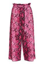 Pantalón Culotte Rosa con Estampado de Serpiente