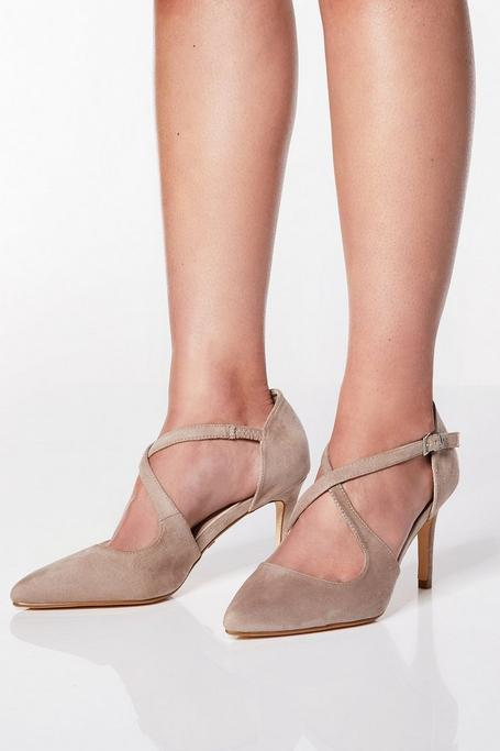 Zapatos de Tacón Nude de Corte Ancho
