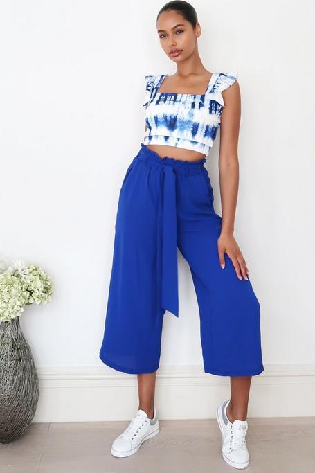 Pantalón Culotte Azul Real