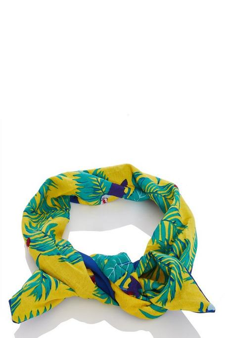 Blue and Yellow Tropical Print Headband
