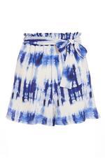 Short Azul y Blanco Tie Dye