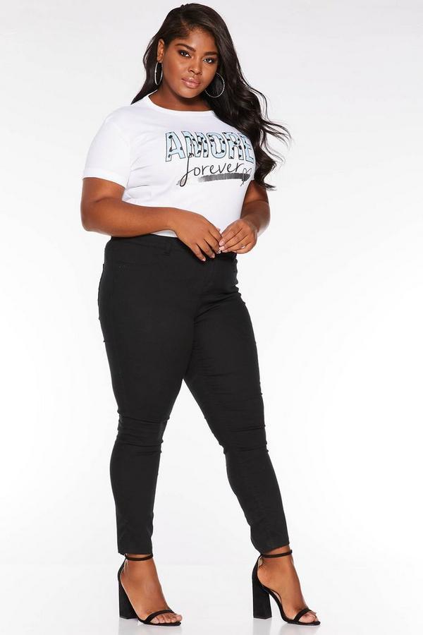 Camiseta Curve Blanco con Eslogan