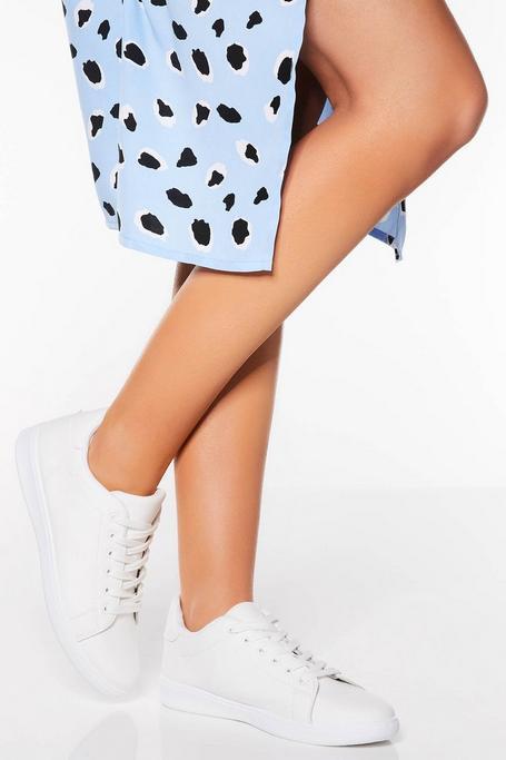 Zapatillas Blancas de Polipiel Lisas