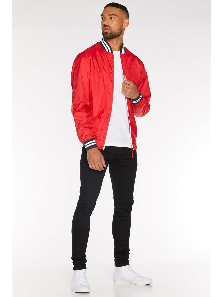 Contrast Lightweight Bomber in Red