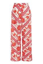 White Pink and Red High Waist Palazzo Pants