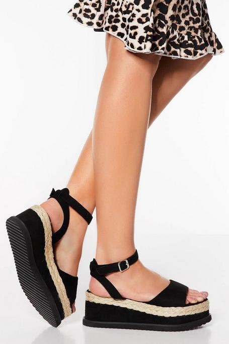 Black Curved Wedge Flatform